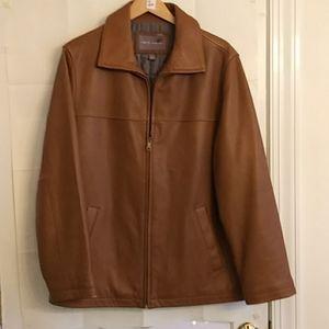 Apt 9 Men's Lamb Skin Leather Jacket Size L